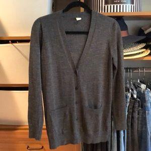 JCrew Charcoal Grey Cardigan